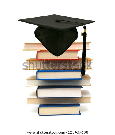 A graduating degree in school class - stock photo