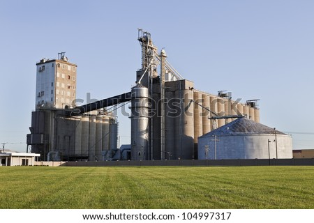 A Grain Co-op Feed Mill Facility in Illinois