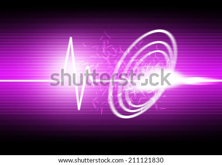 a graphic of sound wave abstract background