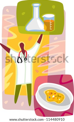 A graphic representation of a medical research - stock photo