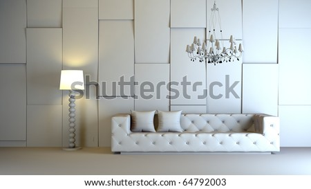 a gray 3d interior composition