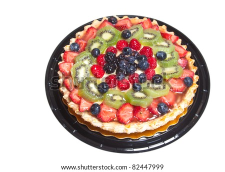 A great image of fruit pie isolated on white.