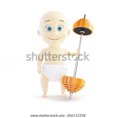 a great sport for young children on white background - stock photo