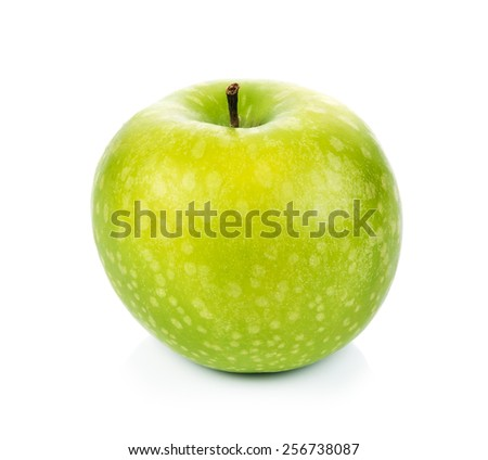A Green apple isolated on white background