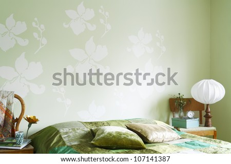 A green bedroom.