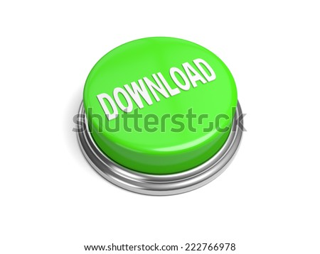 A green button with the download on it download,  - stock photo