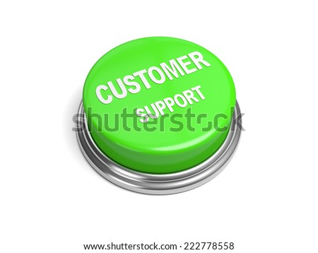 A green button with the word customer support on it - stock photo