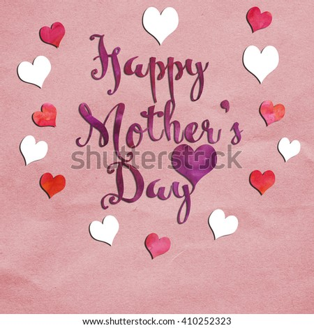 Greeting card message happy mothers day stock illustration 410252323 a greeting card with the message happy mothers day m4hsunfo