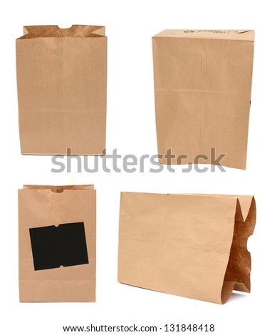 A grocery purchase bag, in eco-friendly recycle paper