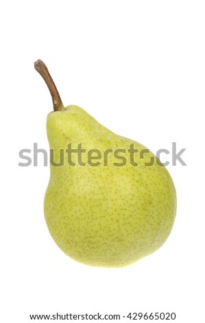A group of Australian Grown Pear isolated on a white background - stock photo