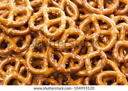 A group of Fresh Whole Wheat Pretzels