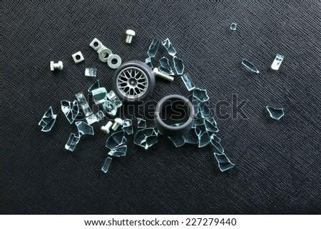 Group Nuts Put Beside Plastic Model Stock Photo 227279440 Shutterstock