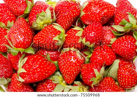 A group of strawberry