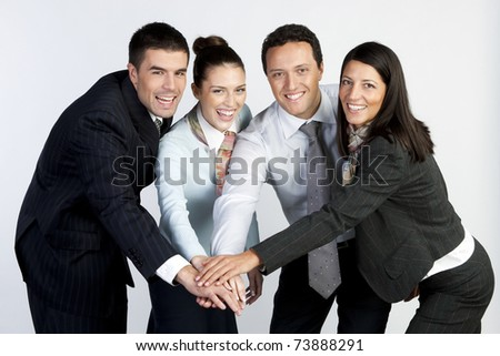 a group of successful businessman - stock photo