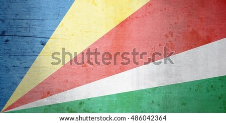 A grunge illustration of the flag of Seychelles