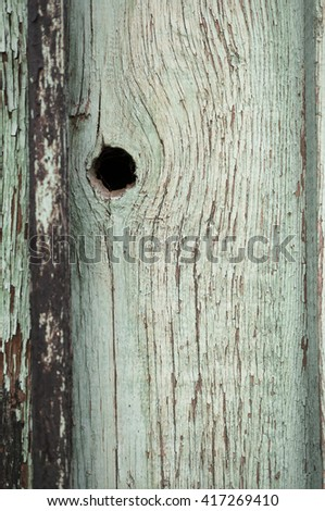 A grungy aged wooden wall background. - stock photo