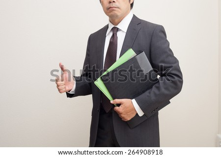 a guy thumbs up - stock photo