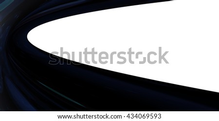 A half curved texture on a white background.