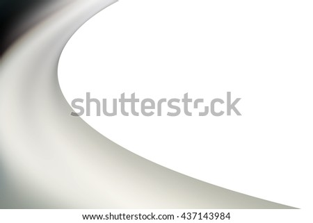 A half curved with a white background.