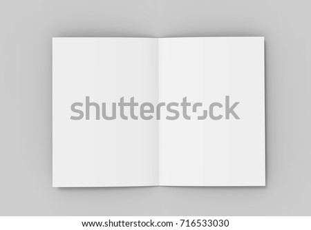 A Halffold Brochure Blank White Template Stock Illustration - Brochure blank template