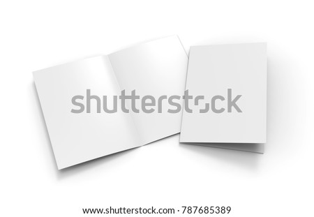 A Halffold Brochure Blank White Template Stock Illustration - Half fold brochure template