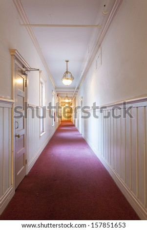 A hallway in an apartment