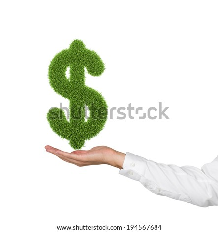 A hand holding a dollar sign.