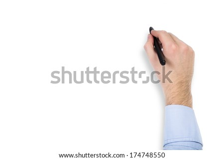 A hand ready to write - stock photo
