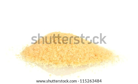 A handful of gelatin isolated on white
