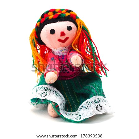 A handmade toy doll from Mexico