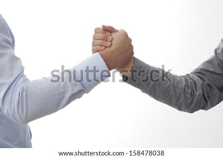 a handshake between two people - stock photo
