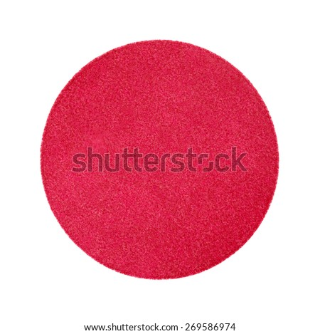 A handy red garage sale sticker on a white background. - stock photo