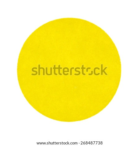 A handy yellow garage sale sticker on a white background. - stock photo
