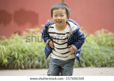 a happy baby is playing - stock photo