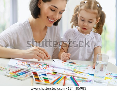 a happy family is painting