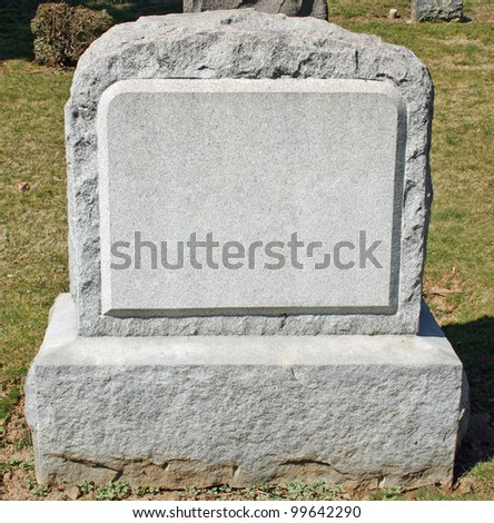 A headstone in a cemetery in New Jersey - stock photo