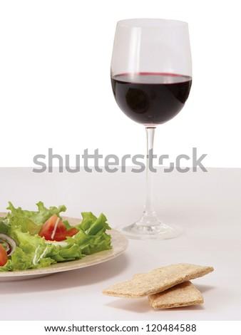 A health dinner salad - stock photo