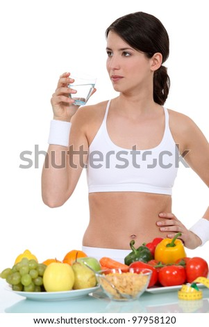 A healthy woman. - stock photo