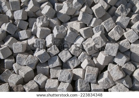 a heap of cobbled stones texture - stock photo