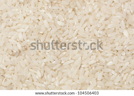 A heap of Healthy Dry Brown Rice ready to cook