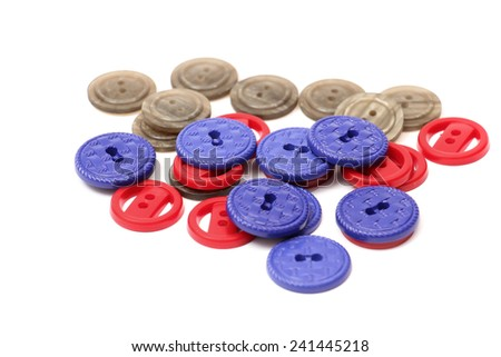 A heap of  sewing buttons - stock photo