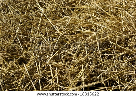 A heap of straw