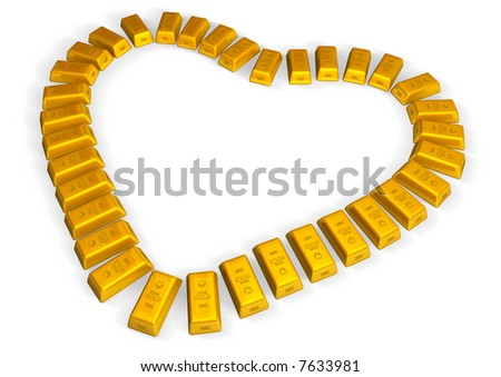 a heart of gold - stock photo