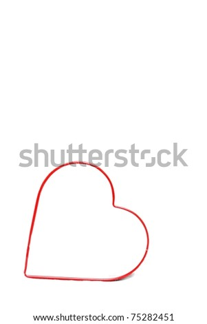 A heart on a white background - stock photo
