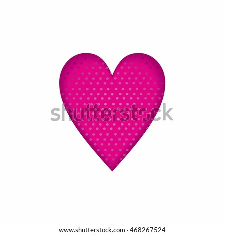 a heart print fabric clothing decoration