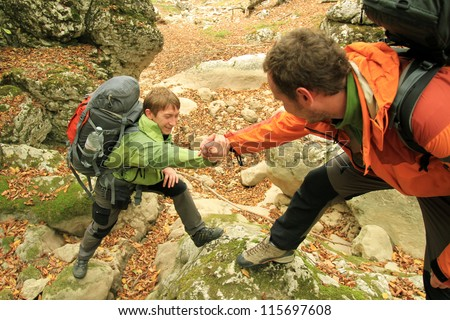 a helping hand - stock photo