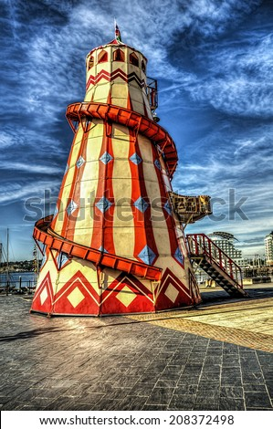A helter skelter - stock photo