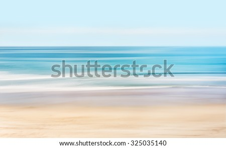 A high-key, abstract seascape of the Pacific ocean off the coast of California. - stock photo
