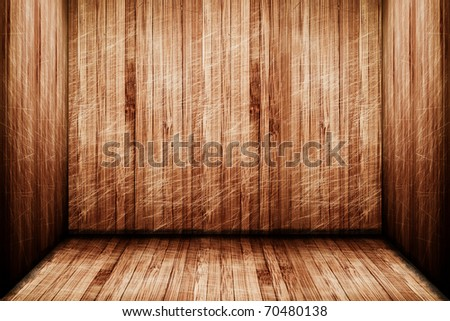 a high resolution creative wooden stage