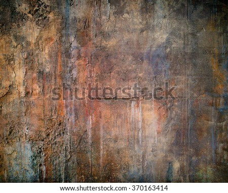 A highly detailed abstract grunge concrete wall background and texture. - stock photo